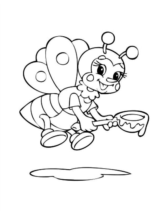 abelhas para colorir