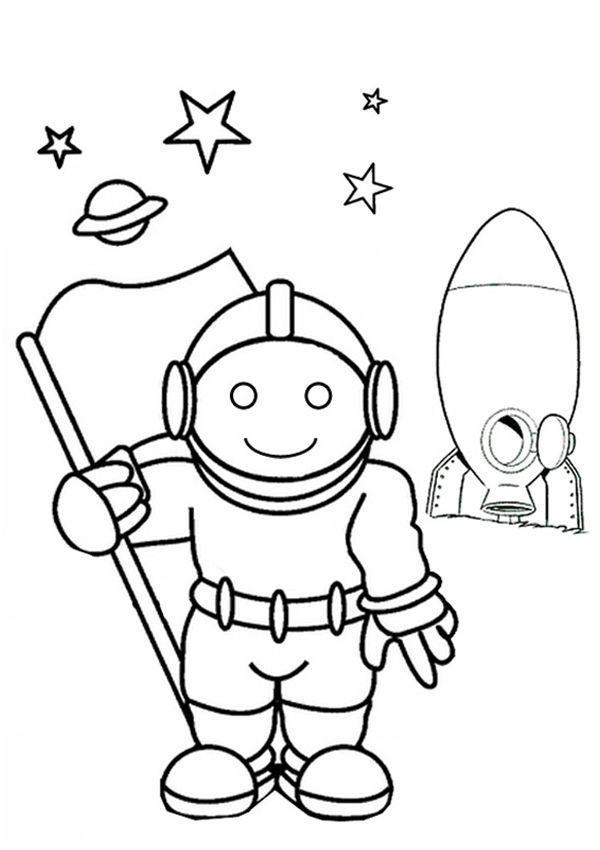 astronautas para colorir