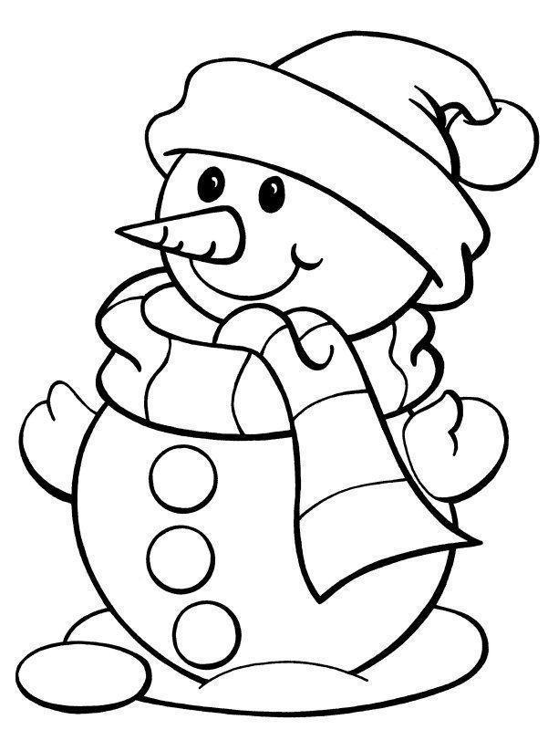 bonecos de neve para colorir