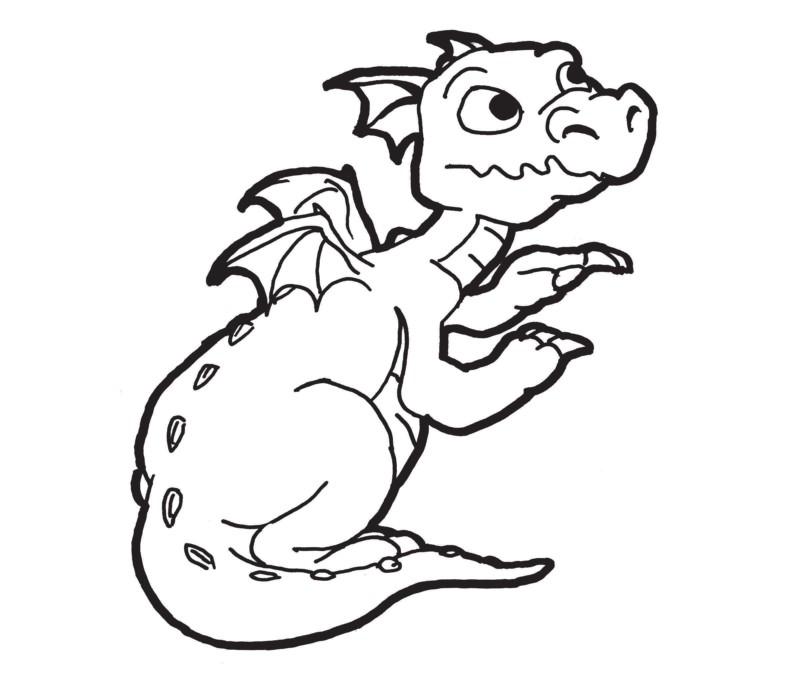dragões para colorir