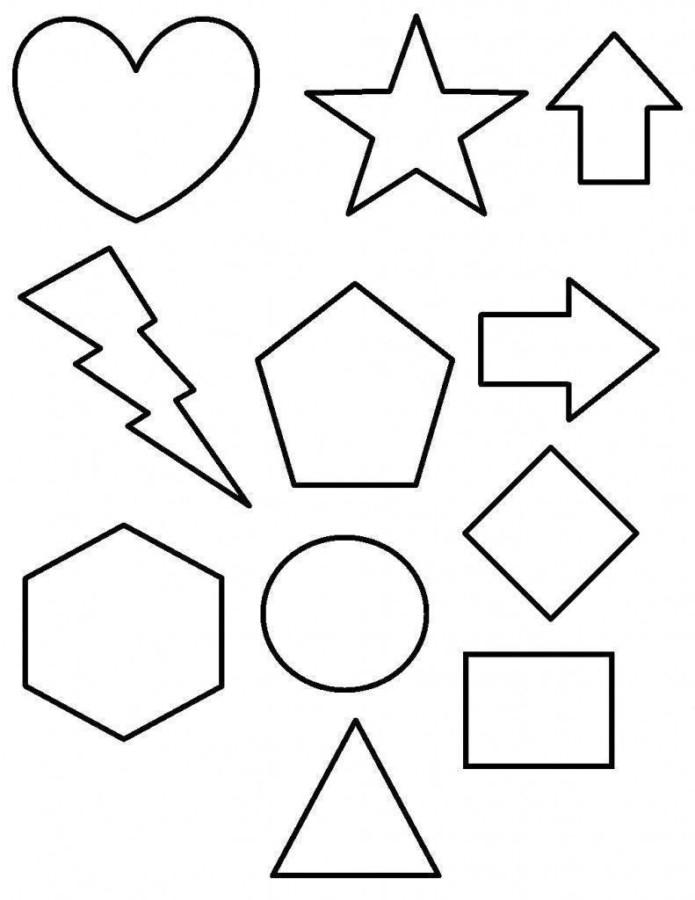 formas para colorir