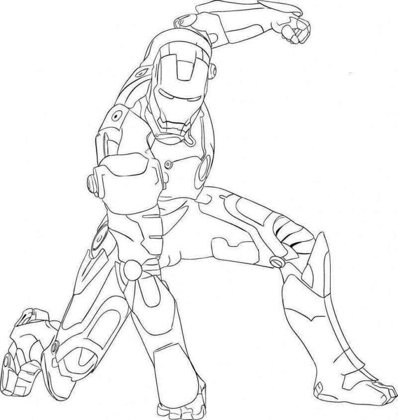 Homem de Ferro para Colorir